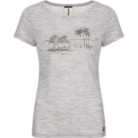 super.natural Print T-Shirt Women ash melange/killer khaki beach print